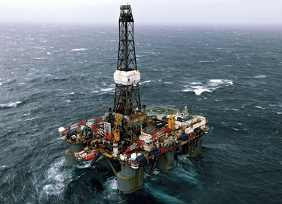 A Barryroe oil rig in the Celtic Sea