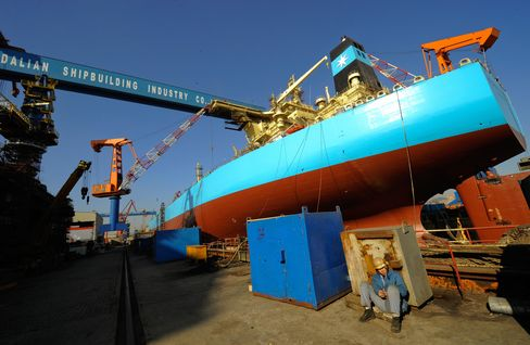China Shipyards Squeezed by Low Down Payments Amid Credit Crunch