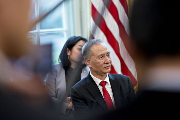 President Trump Meets Chinese Vice Premiere Liu He At White House
