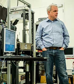 HP CTO Martin Fink in the Photonics laboratory at HP Labs.