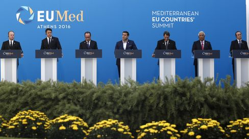 EUMed Summit leaders on Sept. 9.