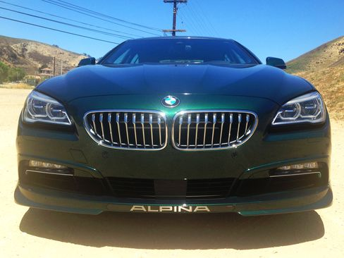 The B6 Alpina has generous badging that advertises its superior tuning.