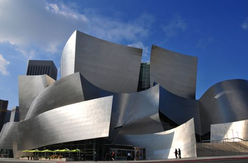 The Walt Disney Concert Hall in downtown Los Angeles.