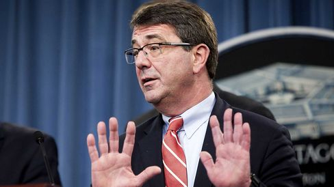 Ashton Carter, undersecretary of defense for acquisitions, speaks during a news conference at the Pentagon in Arlington, Virginia, U.S., on Thursday, Feb. 24, 2011.
