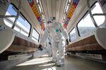 Disinfecting Seoul Subway Amid Fears of the Coronavirus