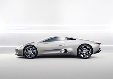 The original C-X75 debuted in 2010 with an 800-hp engine. Its doors open up and out, like wings.