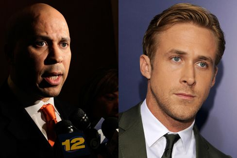 Cory Booker vs. Ryan Gosling: Who's the Greater Hero?
