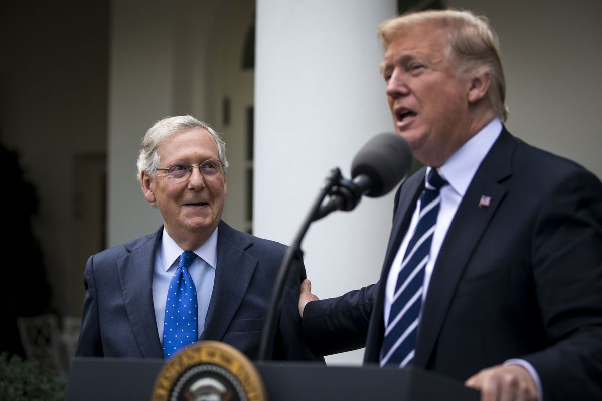 Trump Embraces McConnell in Search of a Tax Win