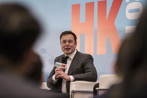 Elon Musk speaks in Hong Kong, on Tuesday.