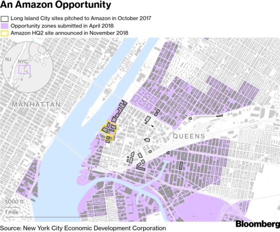 How Amazon's Booming NYC Neighborhood Got Tax Perks Meant for the Poor