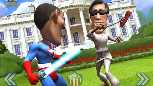 Obama, Romney Get Physical in Game Aimed at Voter Turnout