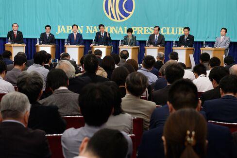 党首討論で勢ぞろいした与野党党首、10月8日