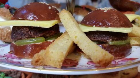 The burger cupcake at Kawa.
