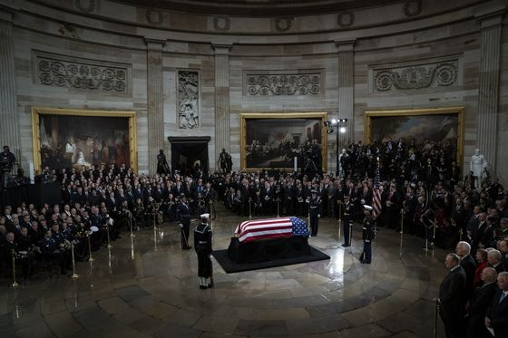 George W. Bush Eulogizes 'Best Father' at Solemn State Funeral
