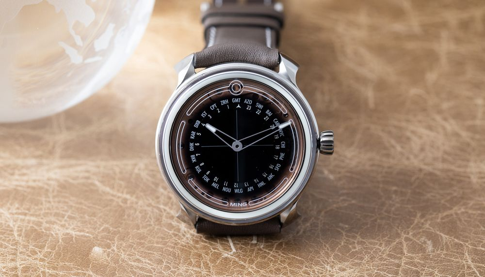 Ming 19 02 Worldtime Watch: Tron-Like Lume and Rose Gold