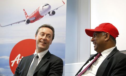 AirAsia Bhd. CEO Tony Fernandes and Airbus CEO Fabrice Bregier