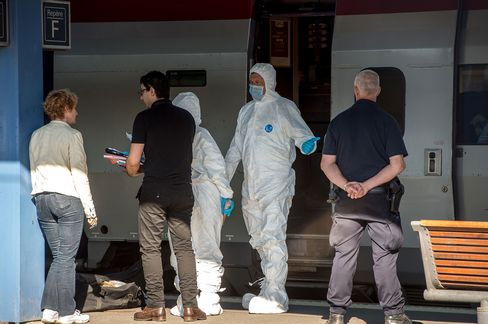 French Forensics Inspect The Scene
