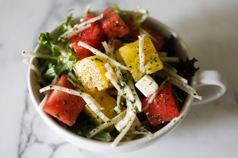 Chef Harold Dieterle's Office Bag Lunch: Summer Watermelon Salad