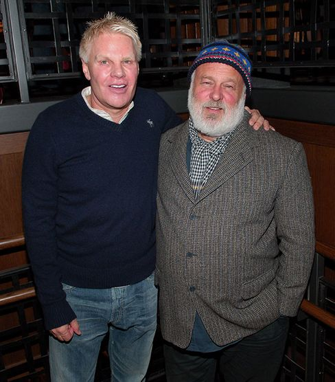 Jeffries, left, with photographer Bruce Weber in 2005