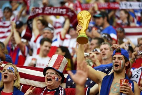 Fans of the U.S. team celebrating during this year's World Cup