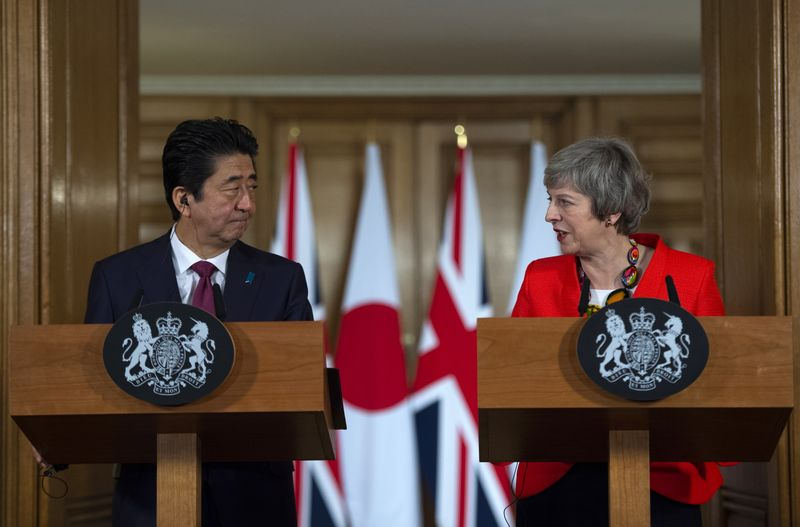 U.K. PM Theresa May Hosts Japanese PM Shinzo Abe
