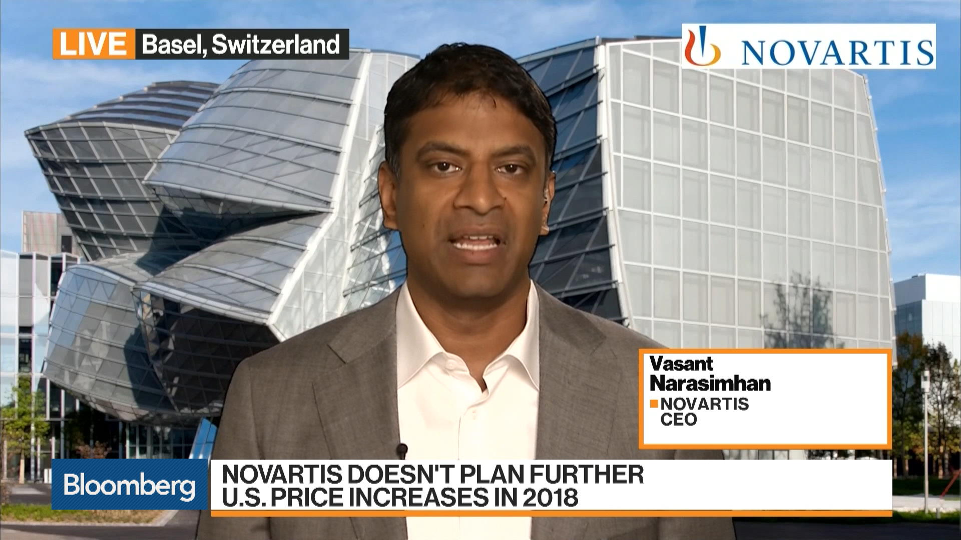 Novartis CEO Says It's `Prudent' to Pull Back From Further Price Increases – Bloomberg