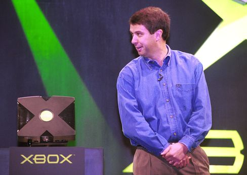 Robbie Bach, former chief Xbox officer at Microsoft, introduces the Xbox video game system on May 16, 2001 in Los Angeles.