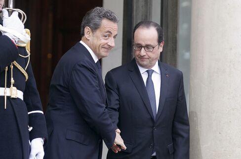 Sarkozy and Hollande