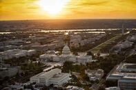 Aerial Views Of Washington As White House Open To Extending Shutdown Deadline