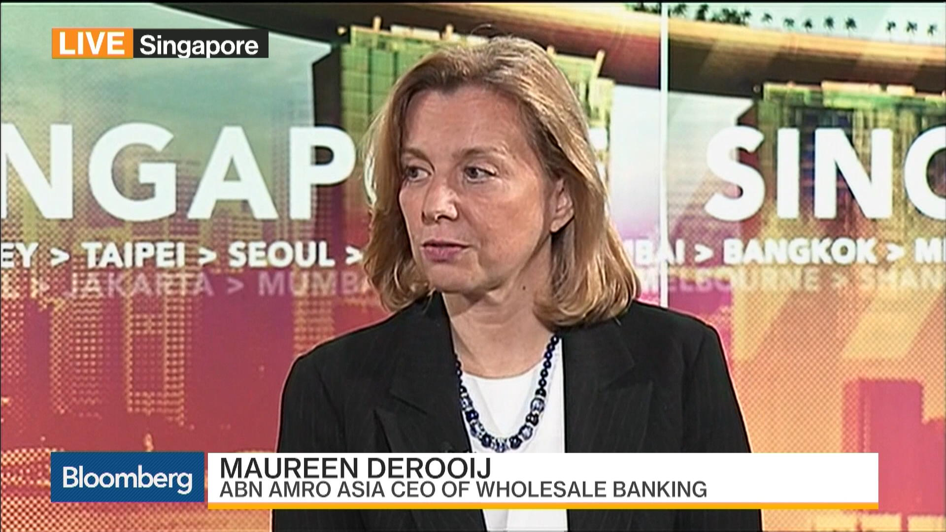 ABN Amro's Derooij Says Asian Focus Is on Corporate Bank