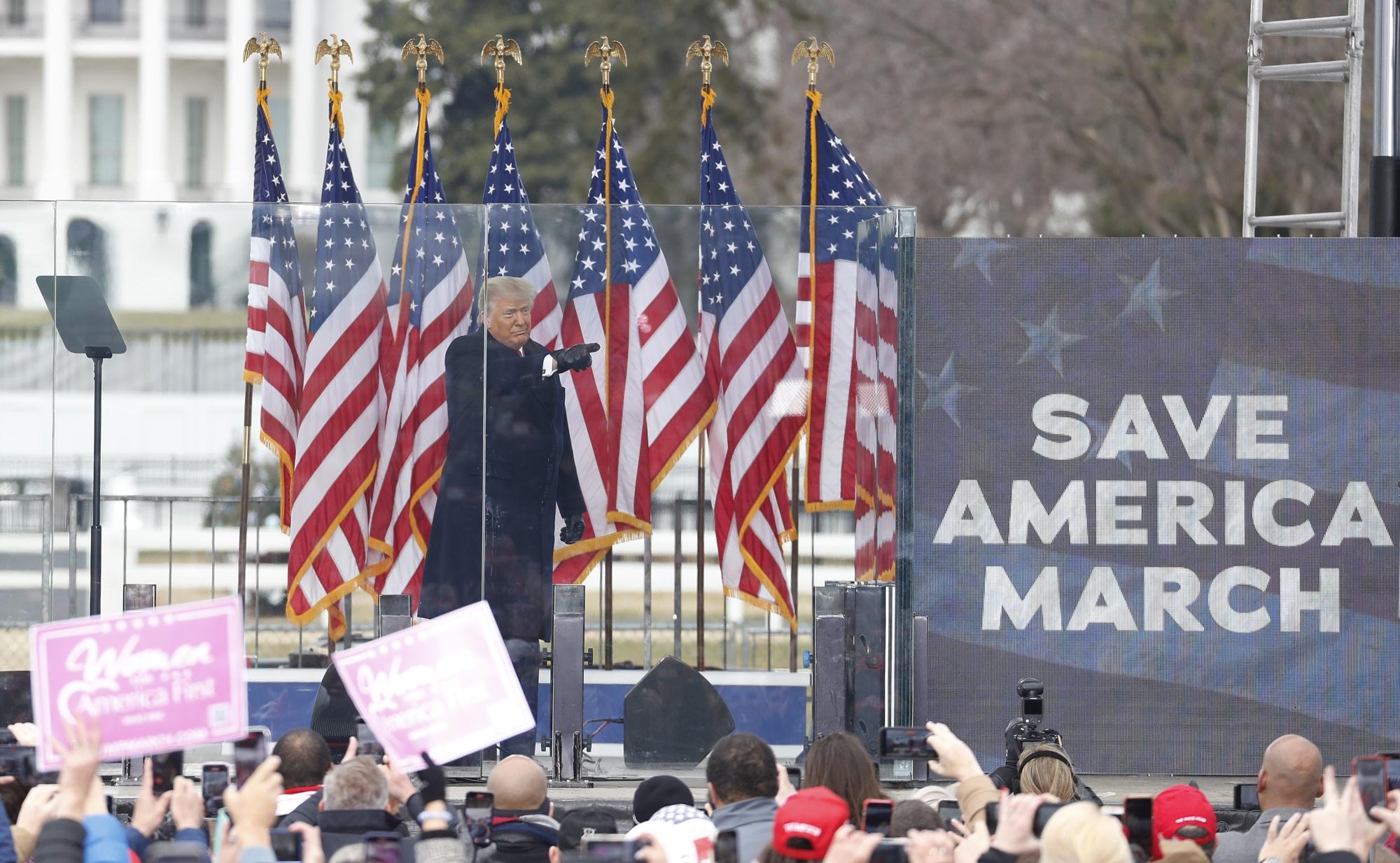 特朗普总统在拯救美国集会上发表讲话