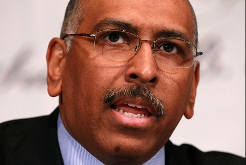 Former Republican National Committee Chairman Michael Steele participates in a debate between chairmanship candidates on Jan. 3, 2011, in Washington.