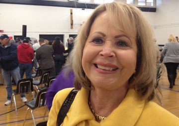 Lorraine Porter likes what she's hearing from Jeb Bush.
