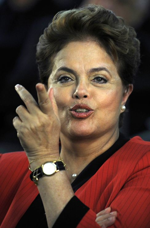 Workers' Party presidential candidate Dilma Rousseff