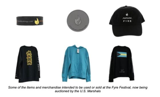 Fyre Festival Merchandise Hits the Auction Block