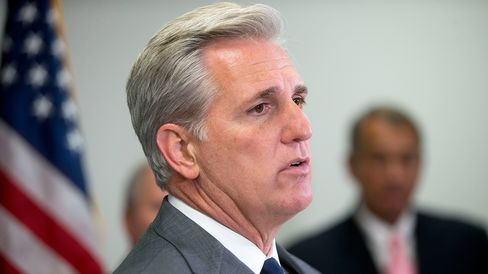 House Majority Leader Kevin McCarthy speaks during a news conference at the U.S. Capitol in Washington on July 28, 2015.