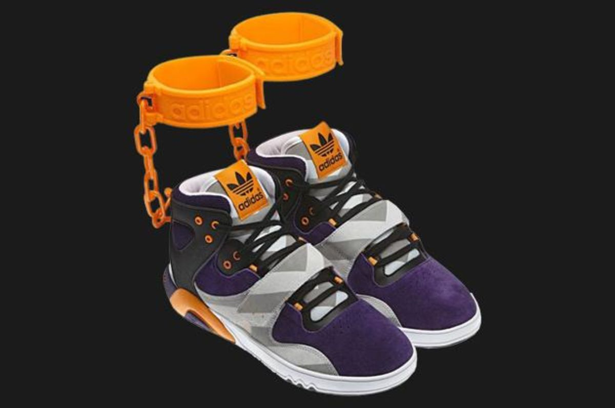 1930fb9a74fd Adidas s Shackle Shoes and Other Highly Offensive Products - Bloomberg