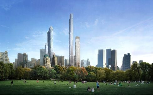 A rendering of Central Park Tower. Source: Extell Development Company