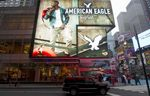 The American Eagle store in Times Square.