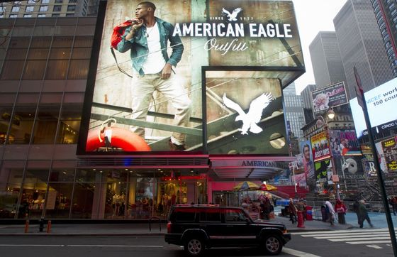 American Eagle's Flagship Times Square Store Seeks New Tenant
