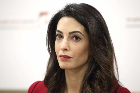 Press Conference with President Nasheed of the Maldives His And Lawyer Amal Clooney