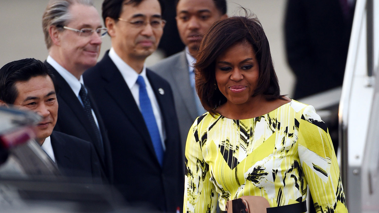First lady Michelle Obama arrives in Tokyo