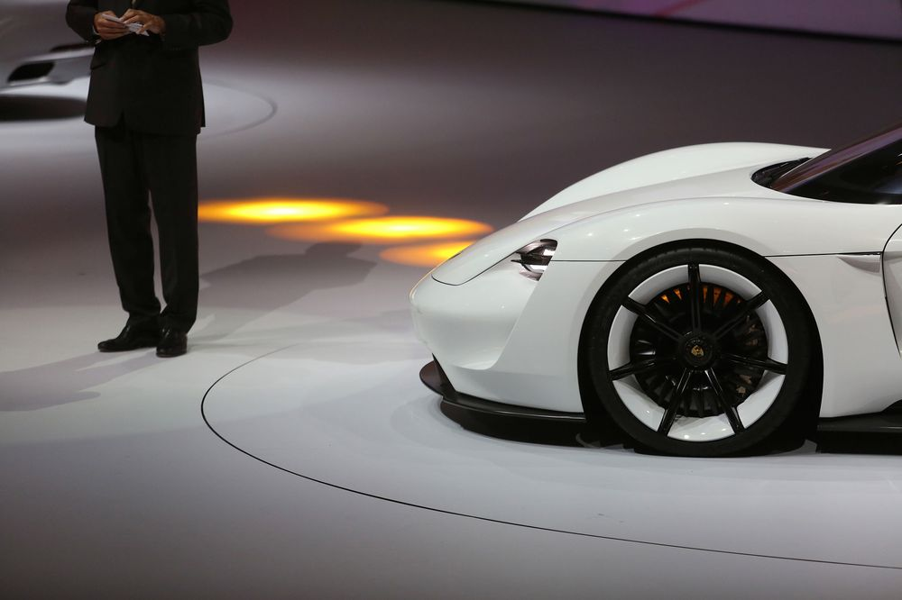 Based On The Low Slung Mission E Concept Shown At Last September S Frankfurt Auto Show