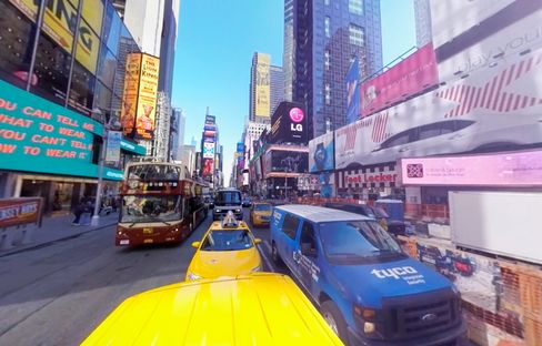 Visualise VR specialists capture a trip through NYC's streets for Thomas Cook travel promotions.