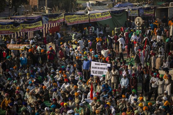 Modi Under Pressure as Support for India Farm Protests Grows