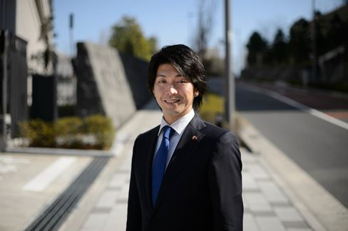 Kensuke Miyazaki, a member of the House of Representative, in Tokyo.