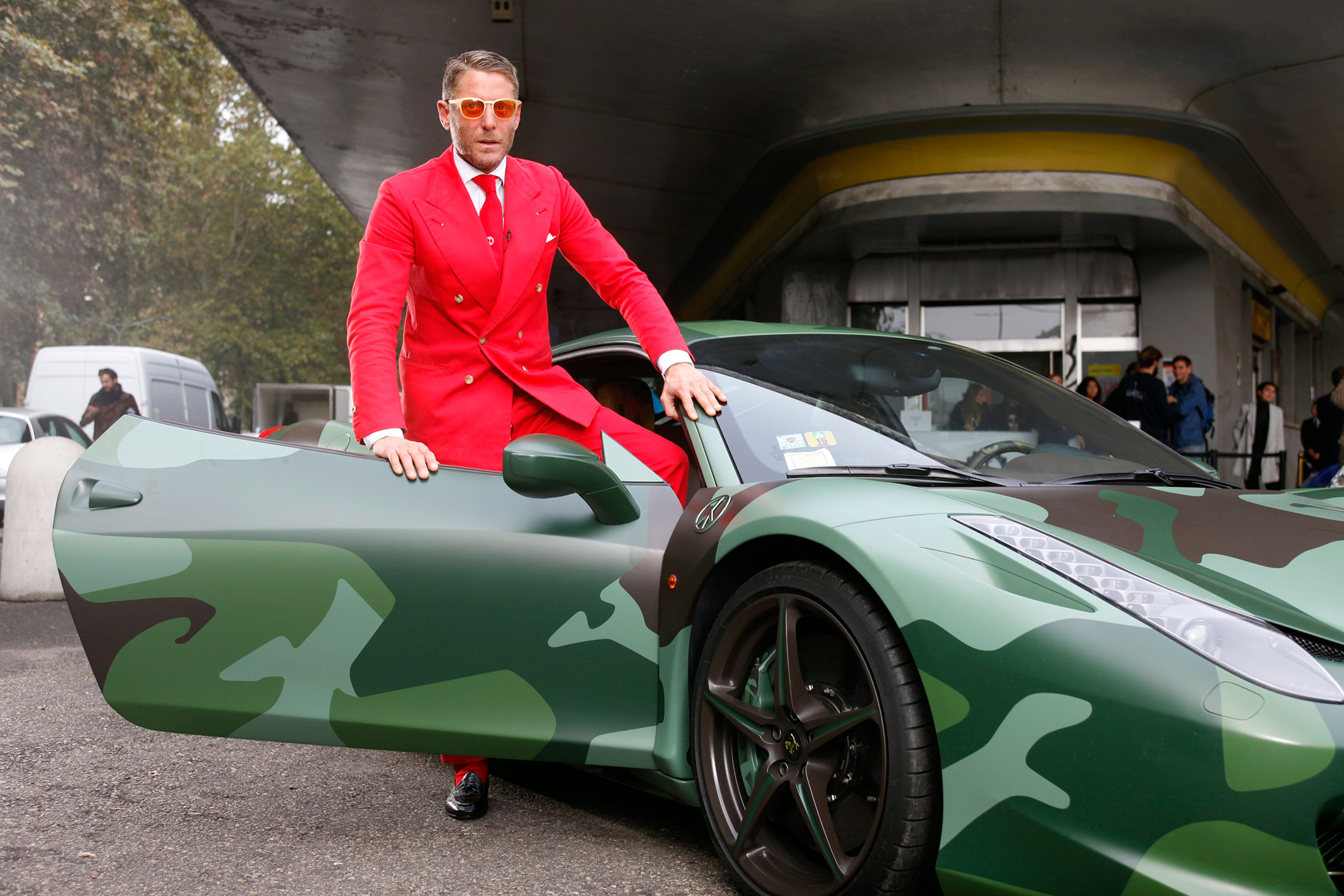 small garage business ideas - The Crazy Suits and Outrageous Cars at Lapo Elkann's