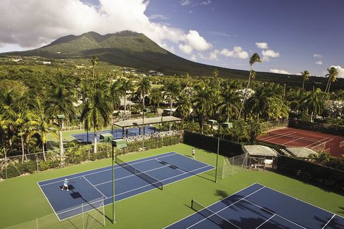 The courts at the Four Seasons Nevis.