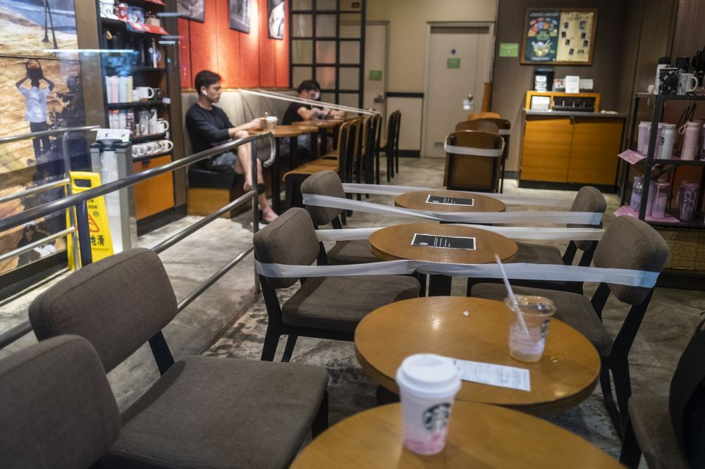 Starbucks, Built on Togetherness, Tries to Adapt to Distancing - Bloomberg