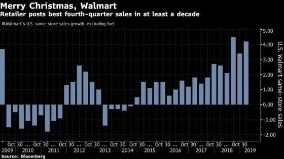 Walmart Surges After Reporting Its Best Holiday Quarter in Years